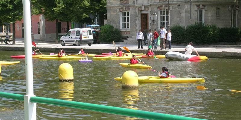 croisiere et canoe sur le canal