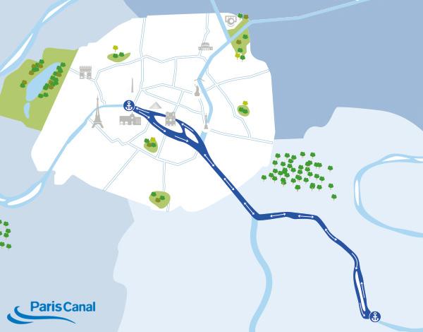 Itinéraire croisière dejeuner sur la Marne