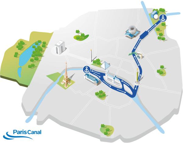 Itinéraire croisière canal St. Martin
