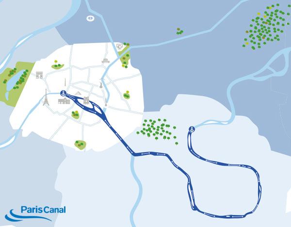 Itinéraire croisière sur la Marne