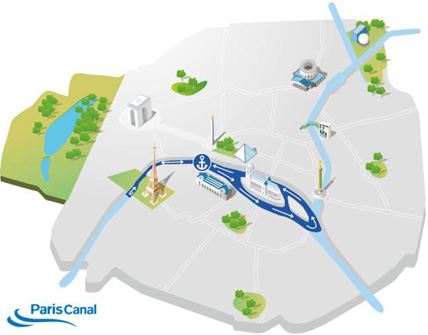 Itinéraire croisière repas sur la Seine