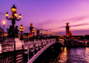 Sunset on Paris Paris Canal Cruise