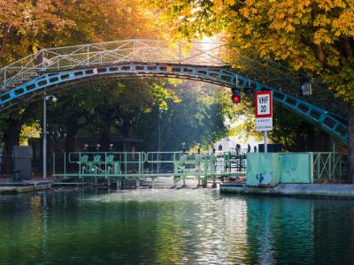 Canal Saint Martin automne