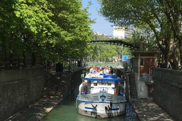 Martin Pêcheur canal saint martin écluse