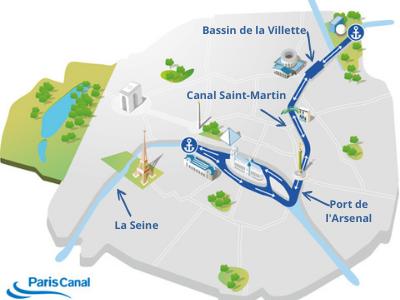 Plan du canal Saint-Martin